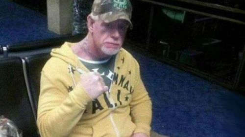 The Undertaker photographed a few years ago, looking too frail to wrestle.