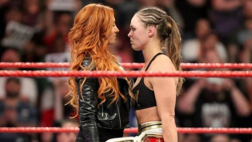 Things got personal on social media between Ronda Rousey and Becky Lynch.