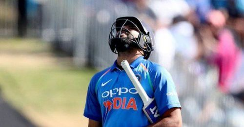 Rohit Sharma lost his wicket early against Australia in the first ODI