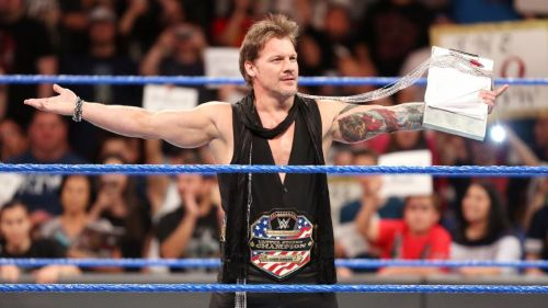Jericho as WWE United States Champion, a title he feuded over with former partner Kevin Owens.