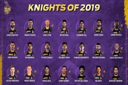 Kolkata Knight Riders IPL 2019 Squad