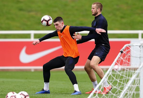 Declan Rice could start ahead of Eric Dier for England