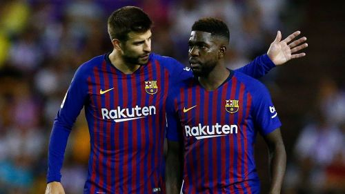 FC Barcelona's defensive partnership of Pique and Umtiti