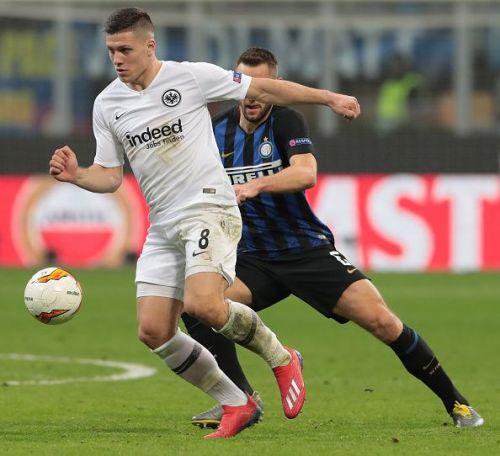 Eintracht Frankfurt's Luka Jovic