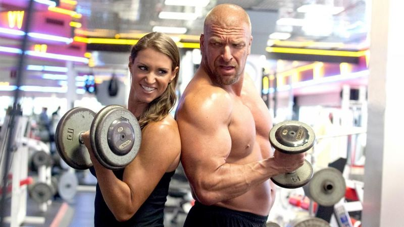 triple h and stephanie mcmahon midnight workout