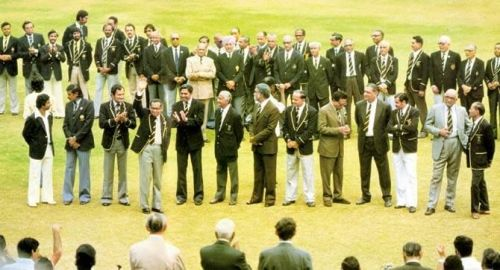 Indian Ex-cricketers before the start of the match
