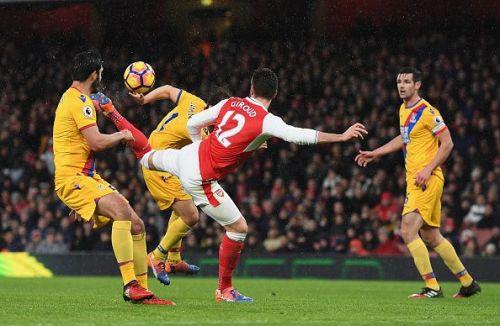 Arsenal v Crystal Palace - Premier League - The Puskas winning goal