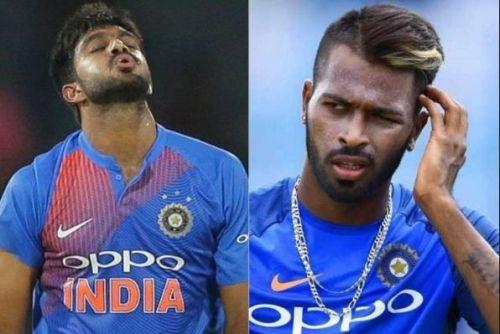 India's two all-rounders - VIjay Shankar and Hardik Pandya