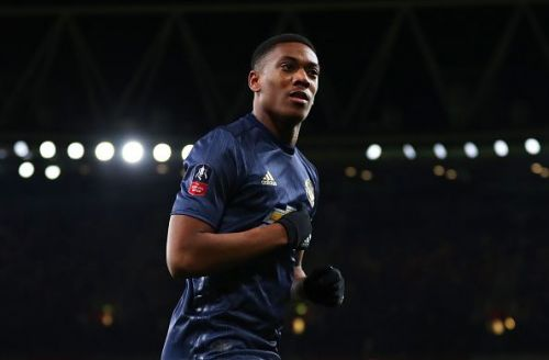 Martial is back from injury and is in the squad to face Arsenal