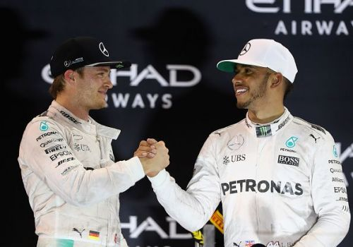 Nico Rosberg (left) and Lewis Hamilton have both won driver's titles while racing for Mercedes.