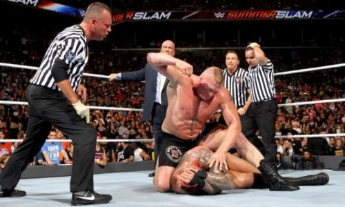 Brock didn't pull any punches in his match with Orton