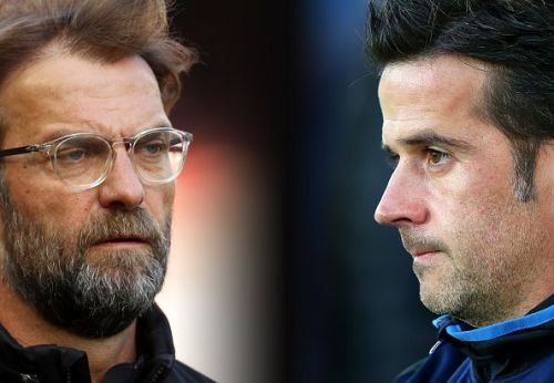 Jurgen Klopp (Liverpool) and Marco Silva (Everton)