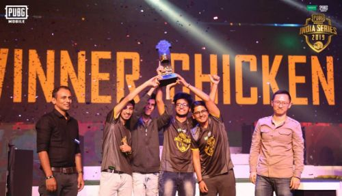 Team Soul after winning the PUBG Mobile India Series.