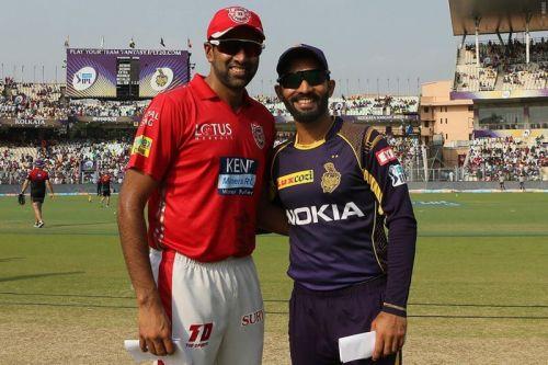 कोलकाता नाइटराइडर्स और किंग्स एलेवेन पंजाब के कप्तान