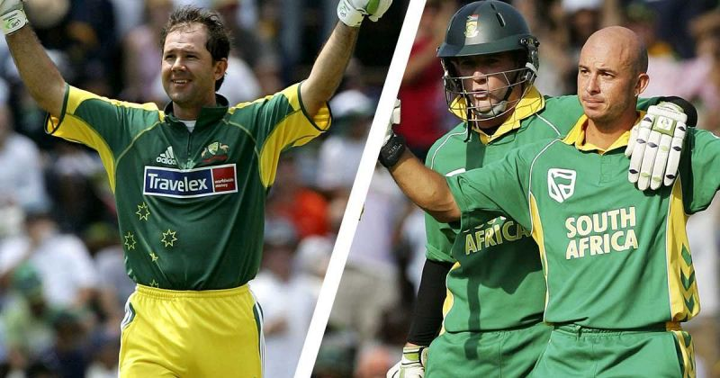 Ricky Ponting showed his class with 164, while Herschelle Gibbs overshadowed Ponting, with an exquisite 175 to guide his team to a world record chase