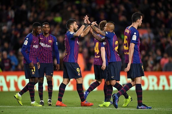 FC Barcelona restored their seven-point lead at the perch