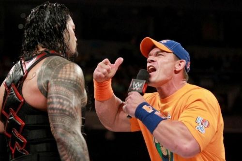 John Cena reads Roman Reigns the riot act