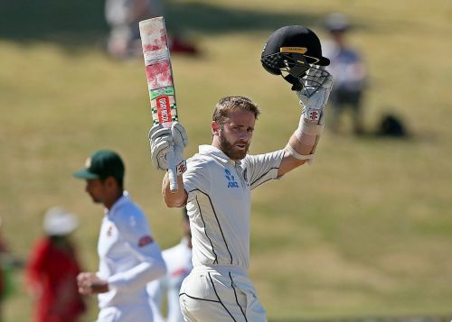 Kane Williamson scored the second double century of his Test career at Hamilton