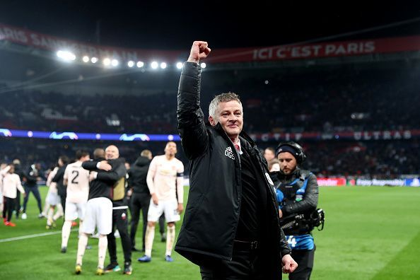 Ole successfully helped his side into the next round of the Champions League