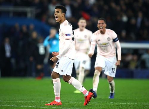 Mason Greenwood, 17, made his Manchester United debut against PSG