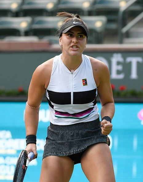 Bianca Andreescu at BNP Paribas Open - Day 3
