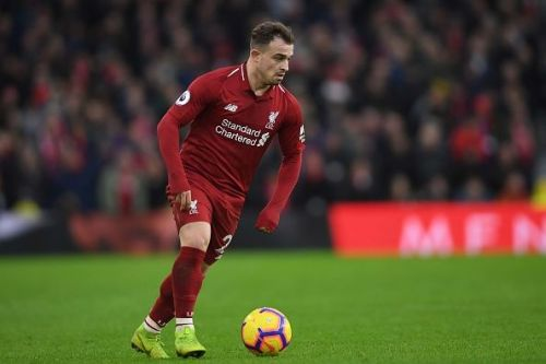 Xherdan Shaqiri in action for Liverpool.