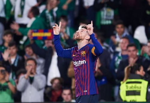 Real Betis applauded Leo Messi's brilliance against them after he completed his hattrick with an audacious 18-yard chip shot