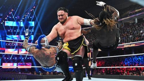samoa joe defended his US title at fastlane in a rematch