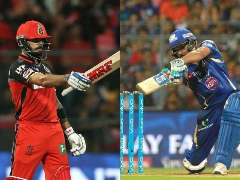 Rohit Sharma and Virat Kohli will be looking to claim their first win of the IPL this season.