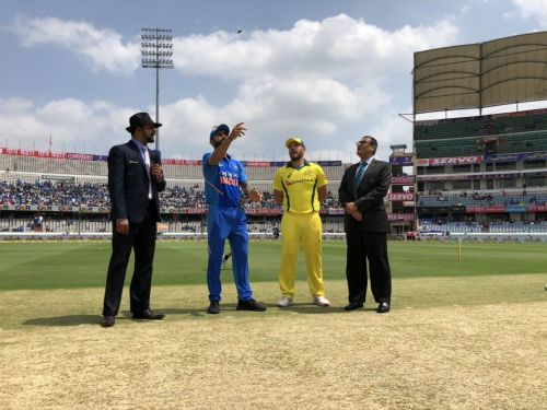 Two captains during toss
