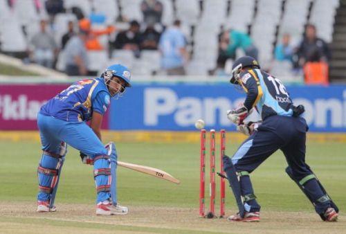 CLT20 2012 Match 11 - Mumbai Indians v Yorkshire Carnegie