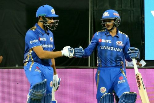 Quinton de Kock and Rohit Sharma have looked good at the top of the order for MI (Picture courtesy: BCCI/iplt20.com)