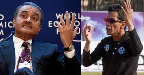 Praful Patel (left), the AIFF president, needs to put out this fire started by Minerva Punjab owner Ranjit Bajaj