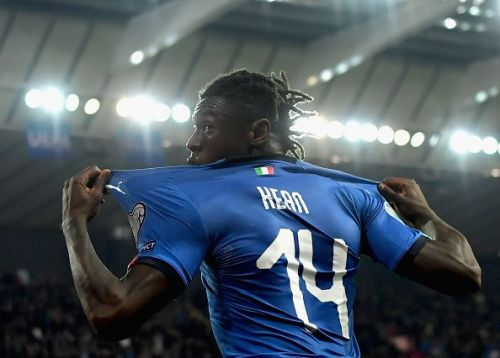 Moise Kean featured in Italy v Finland - UEFA EURO 2020 Qualifier