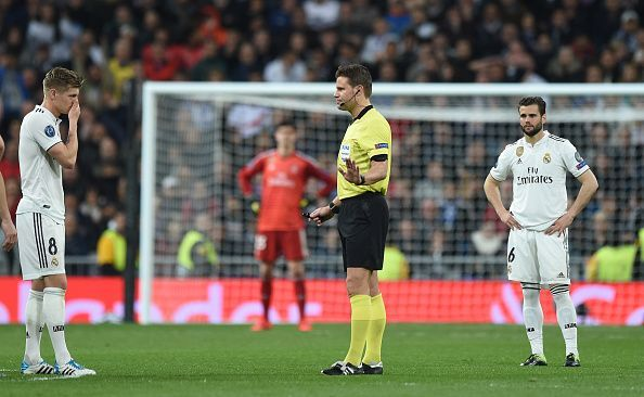 Real Madrid players in disbelief after crashing out of the Champions League to Ajax.