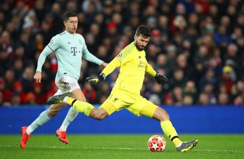 Lewandowski will want to get the better of Alisson this time around