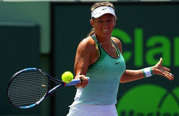 Victoria Azarenka in play at the Miami Open
