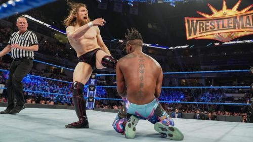 Kofi Kingston and Daniel Bryan in action