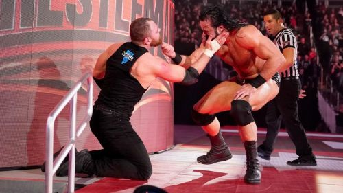 Ambrose and McIntyre in action