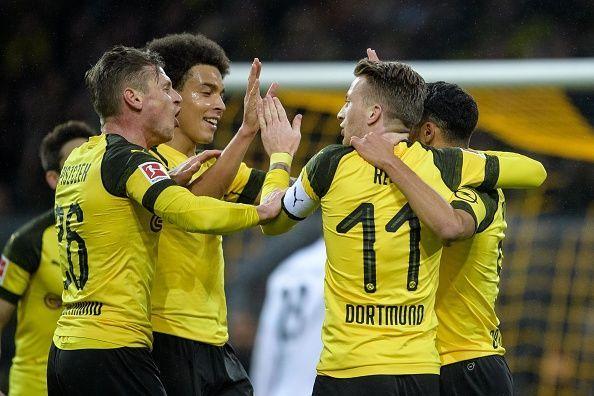 The Borussians basking in the glory ofthe Bundesliga