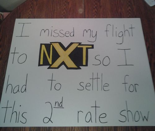 An epic troll by a fan who missed out on WWE NXT and had to watch RAW!