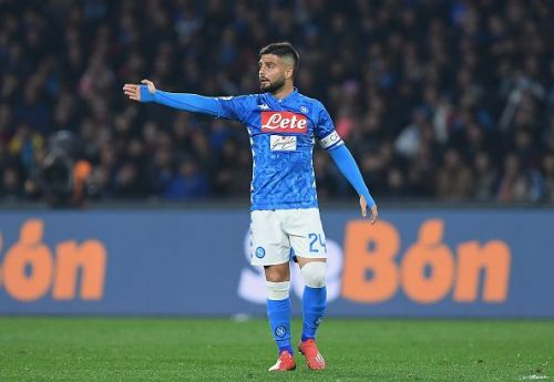 Insigne, Napoli's captain, has been in great form throughout the season.