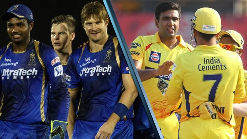Rajasthan Royals And Chennai Super Kings Team