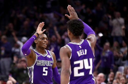 De'Aaron Fox (pictured left) and Buddy Hield (pictured right)
