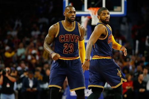 Kyrie and LeBron teamed up in Cleveland
