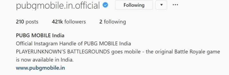 THE OFFICIAL PUBG MOBILE INSTAGRAM PAGE