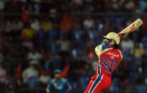 Chris Gayle in action