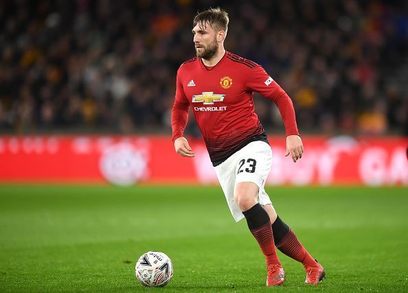 Luke Shaw was the Man of the Match for Manchester United