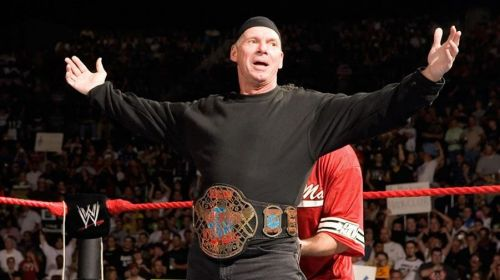 Vince as ECW Champion