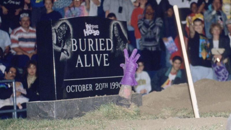 undertaker was buried alive in 1996